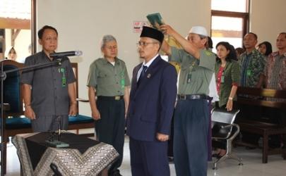Pelantikan Bapak Suharno,SH.,MH. dari Panmud Pidana menjadi Wakil Panitera