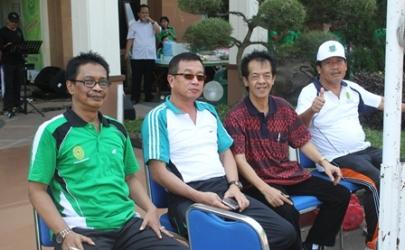 Olahraga Senam dan Volly Bersama Se-Eks Karesidenan Kediri bertempat di Pengadilan Negeri Kediri